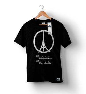 Peace For Paris - Black | Custom Shirts for Men