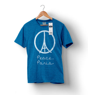 Peace For Paris - Heather Blue | Custom Shirts for Men