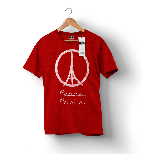 Peace For Paris - Red | Custom Shirts for Men