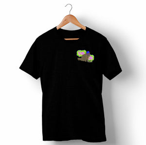 Phat Cat Pocket | Black Shirt