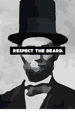 Respect The Beard 2 - Black | Custom Shirts for Men
