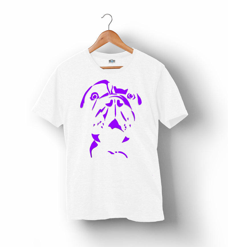 RUFF | White with Purple | T-Shirt