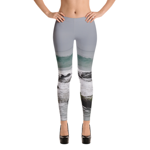 Ocean Wave Leggings for Women