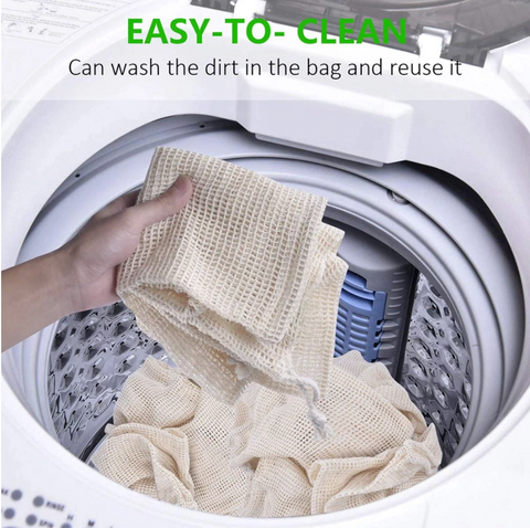 cotton produce bags easy to clean