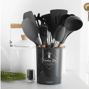 12PCS Eco-Friendly Silicone Cooking Utensils Silicone Utensil Set For Cooking & Baking - Ecosifu