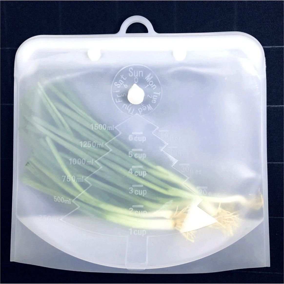 2PC 1.5L & 1L Reusable Silicone Ziplock Bags Leak Proof - Ecosifu