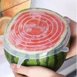 6 Pcs/Set Silicone Stretch Lids Reusable Food Covers Best Silicone Lids - Ecosifu