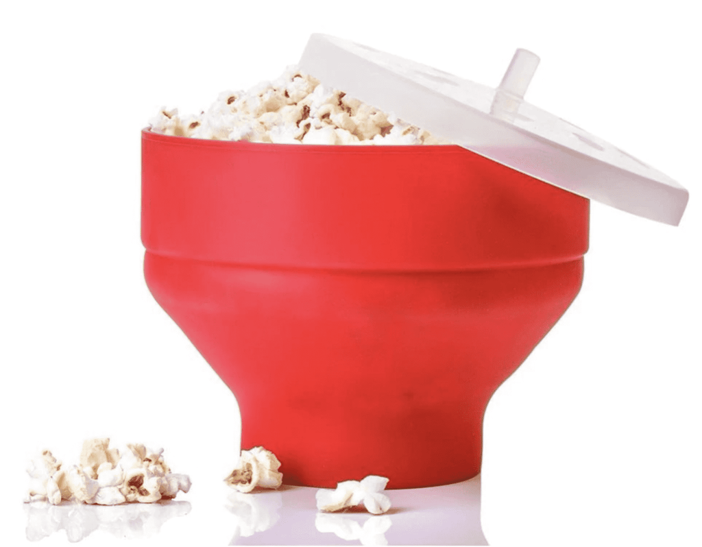 Eco-Friendly Collapsable Silicone Popcorn Popper For Netflix BPA Plastic Free Silicone Popcorn Maker