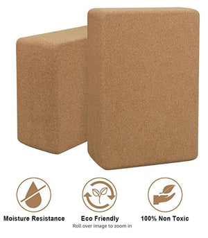 Eco-Friendly Natural Cork Yoga Block Non Slip Yoga Block - Ecosifu