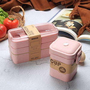 EcoSifu 3PCS Eco Friendly Lunch Box Sustainable Lunch Boxes Eco Friendly Lunch Bag - Ecosifu