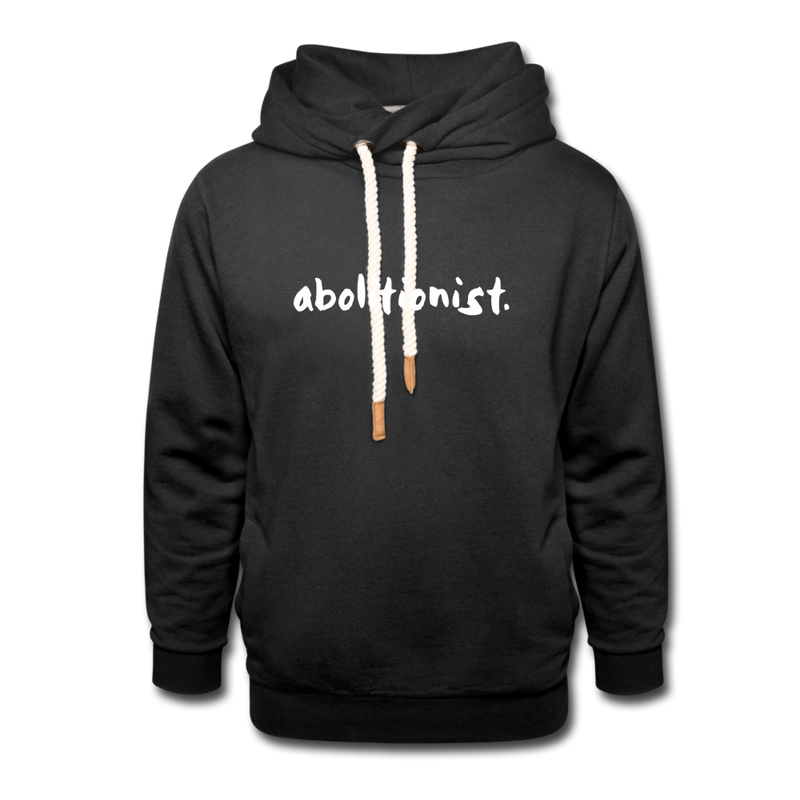 """Abolitionist"" Shawl Collar Hoodie (Tubman Back) - black"