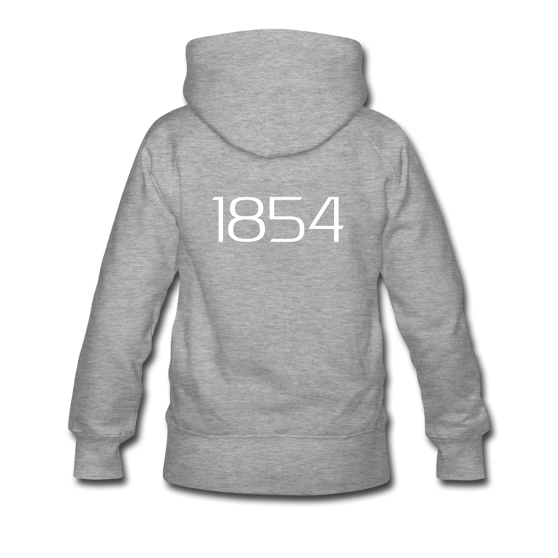 """Harriett"" Women's Premium Hoodie - heather gray"