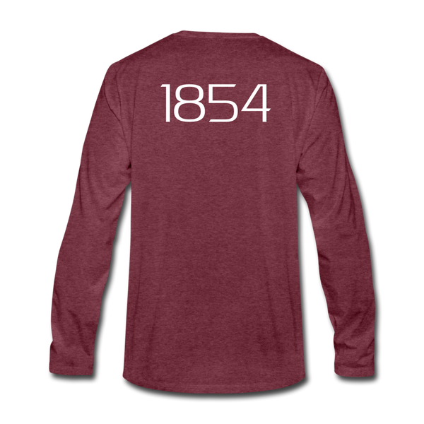 """Harriet"" Premium Long Sleeve T-Shirt - heather burgundy"