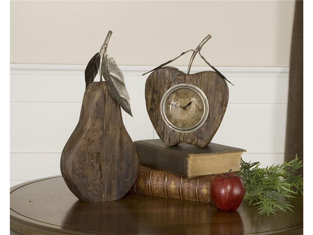 Uttermost - Wooden Apple and Pear Clock