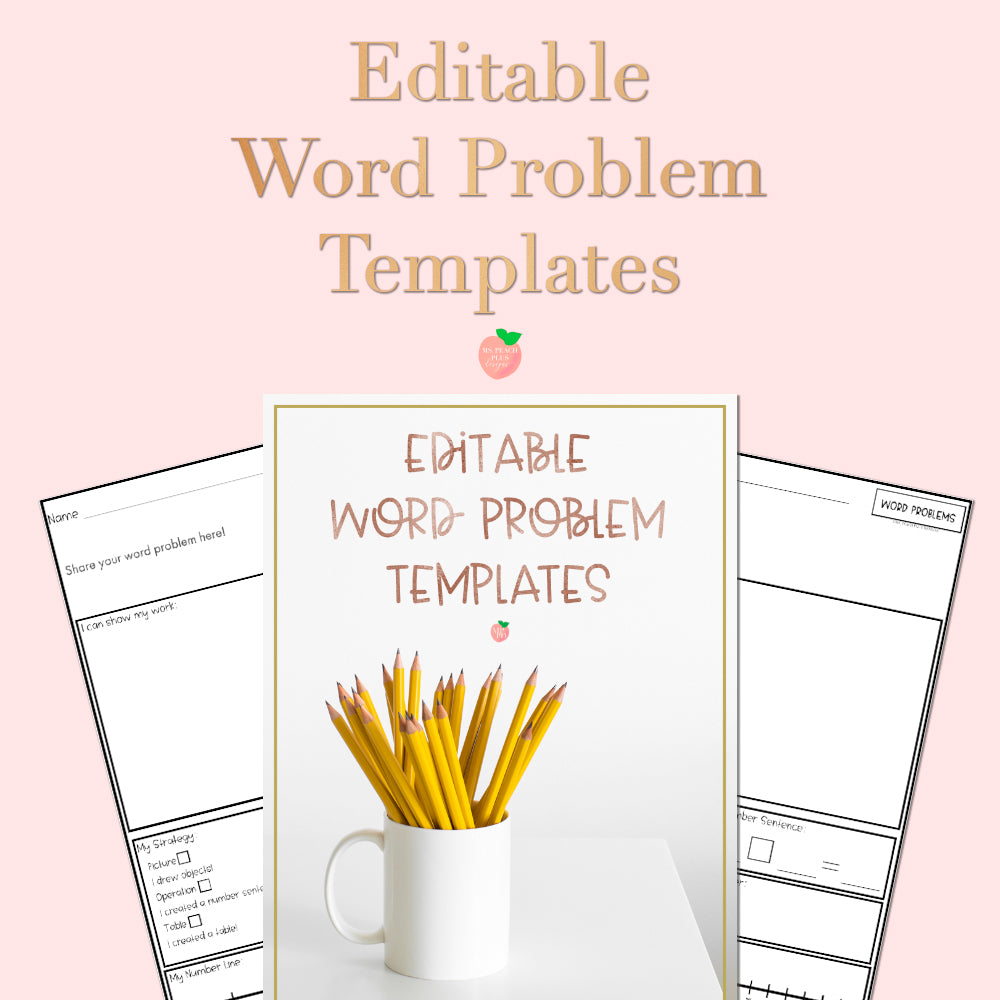 Editable Word Problem Template