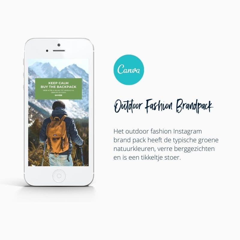 Outdoor Adventure Instagram Template in Canva