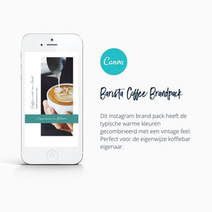 Barista koffiebar Instagram Template in Canva