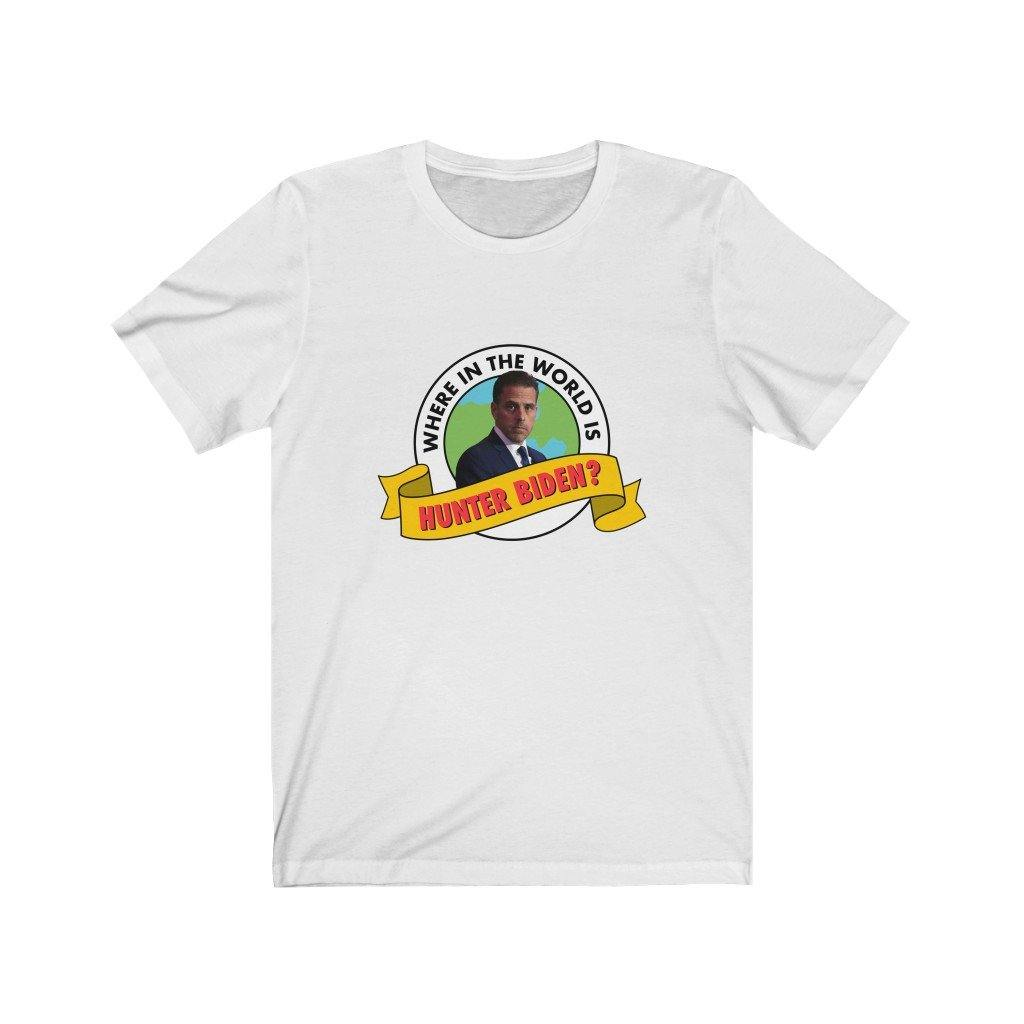 Where in the world is Hunter Biden? Carmen Sandiego Parody Tshirt - Best Trump Shirts Store