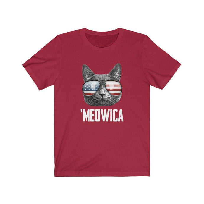Meowica Funny Cat American Flag Sunglasses July 4th T-Shirt by Best Trump Shirts