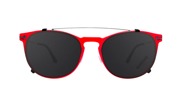 Unisex sunglasses clip-on Paride C1 Mad in Italy front
