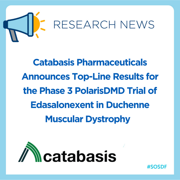 Catabasis Pharmaceuticals Announces Top-Line Results for the Phase 3 PolarisDMD Trial of Edasalonexent in Duchenne Muscular Dystrophy