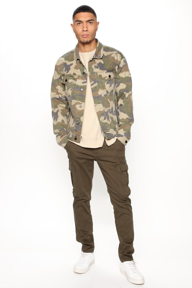 Home Sweet Home Denim Jacket - Camouflage