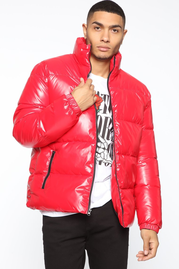 Drew Puffer Jacket - Red