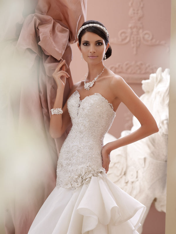 David Tutera Bridal Gown DAV-115230 Sweetheart Trumpet
