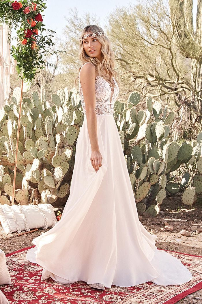 Lillian West #66059 - Beach Boho Bridal Gown