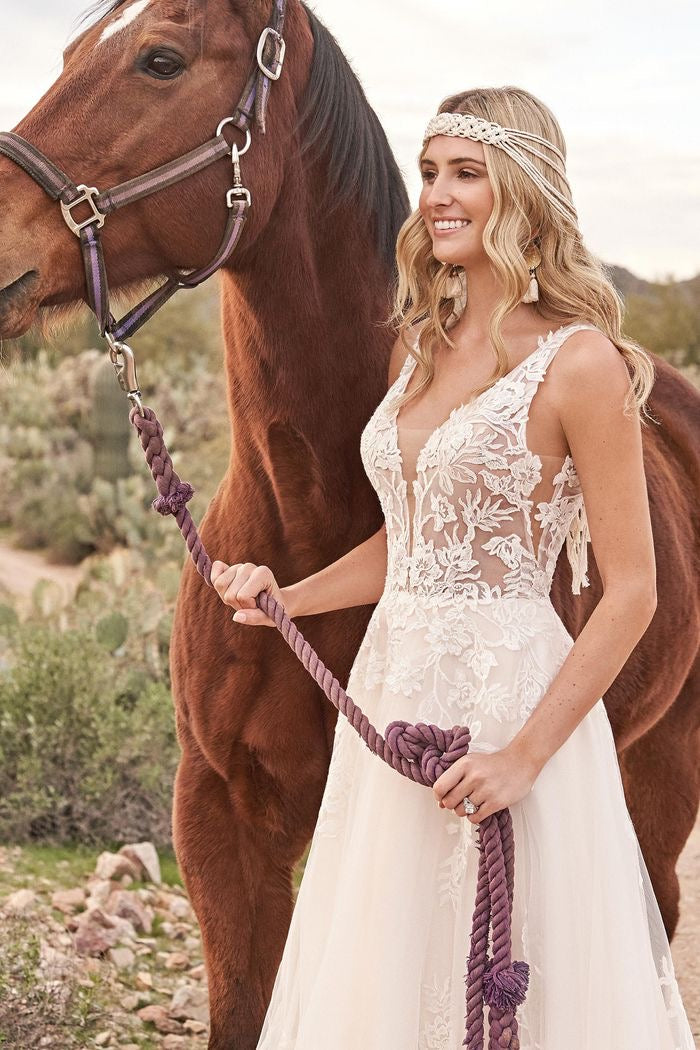 Lillian West #66063 - Boho Bridal Gown