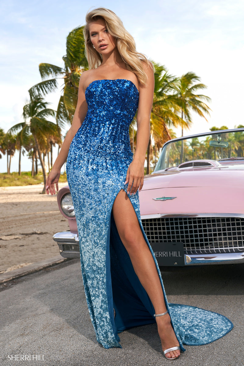 Sherri Hill #54060 Sequin Ombre