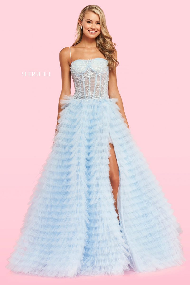 Sherri Hill #54189 Tulle Tiered Gown
