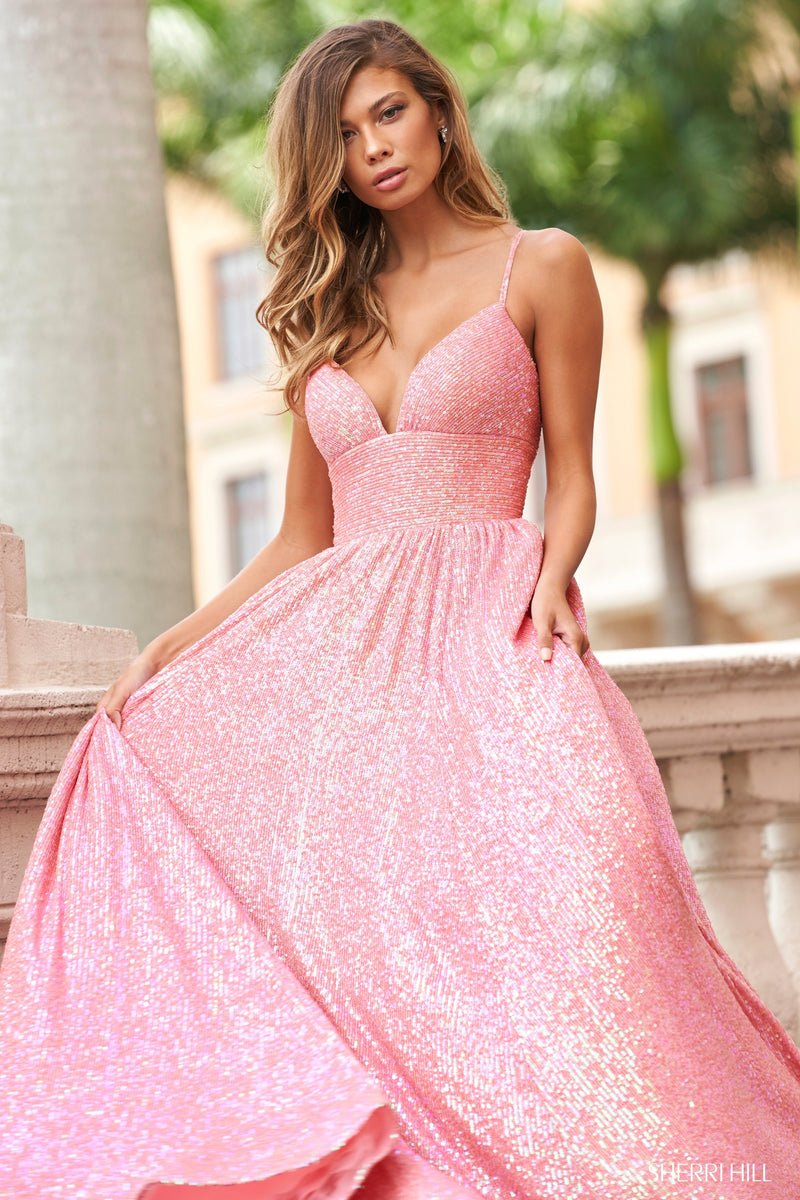 Sherri Hill #54261 Sequin Prom Dress