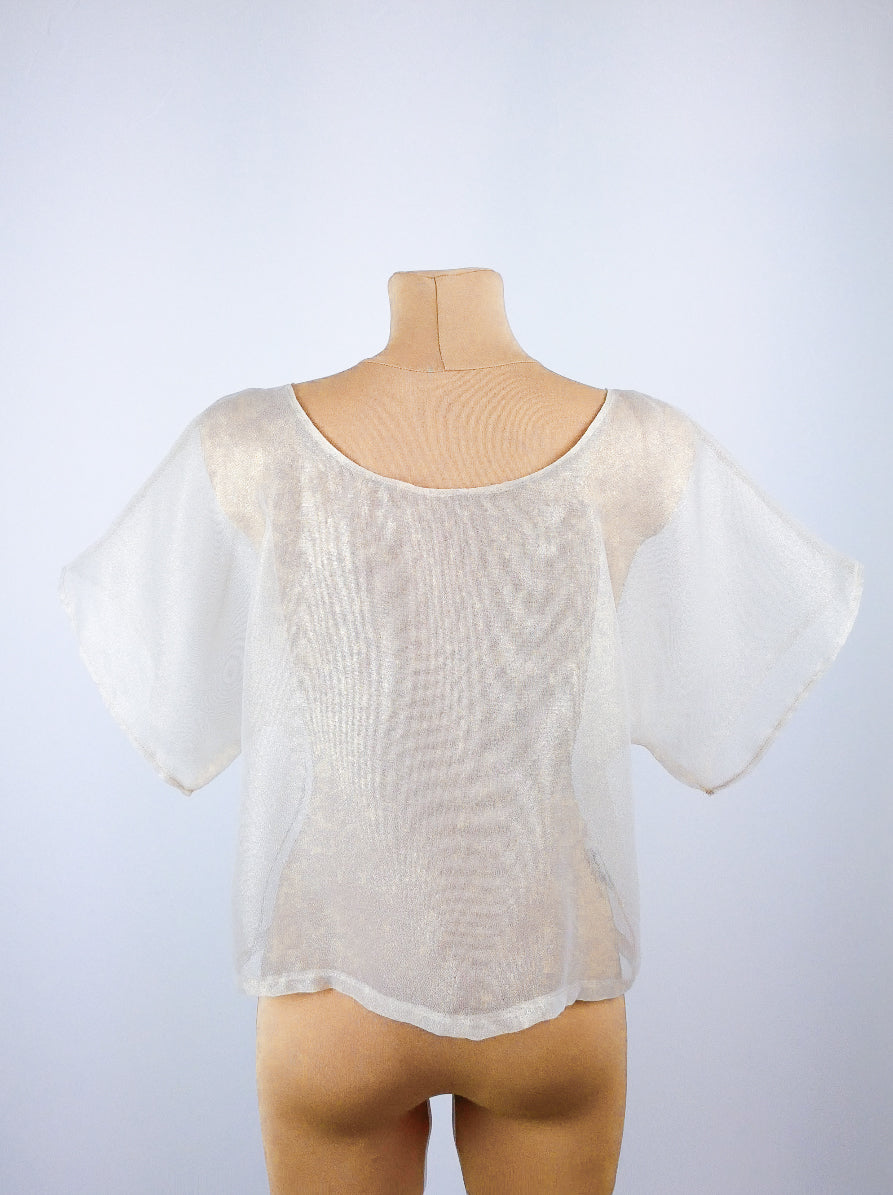 LUMINA GOLD sheer blouse