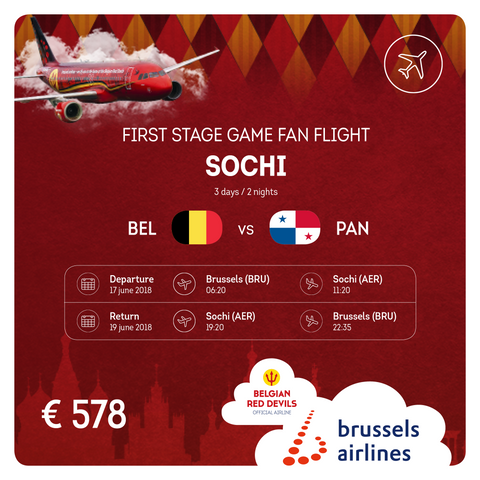 Belgium vs Panama 3 Days / 2 Nights