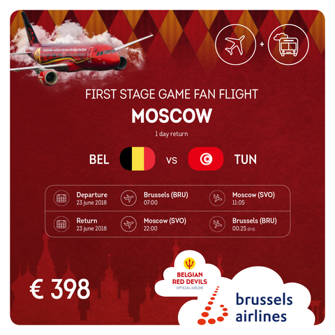 Belgium vs Tunisia 1 Day Return