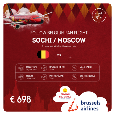 Follow Belgium fan flight