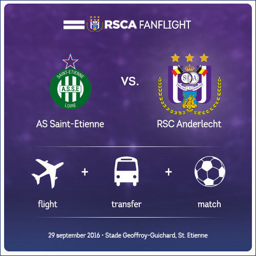 #RSCAFANFLIGHT AS St-Etienne vs RSC Anderlecht