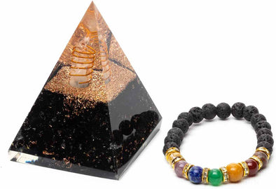 Orgone Pyramid Black Tourmaline Tall