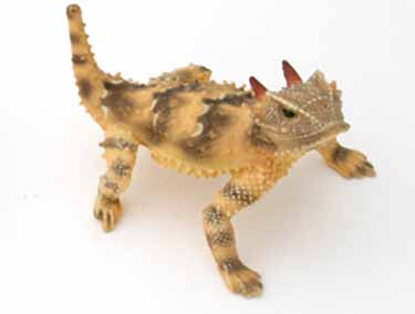 "California 2.5"" Horned Lizard, Female, Painted Figurine with Tail Up"