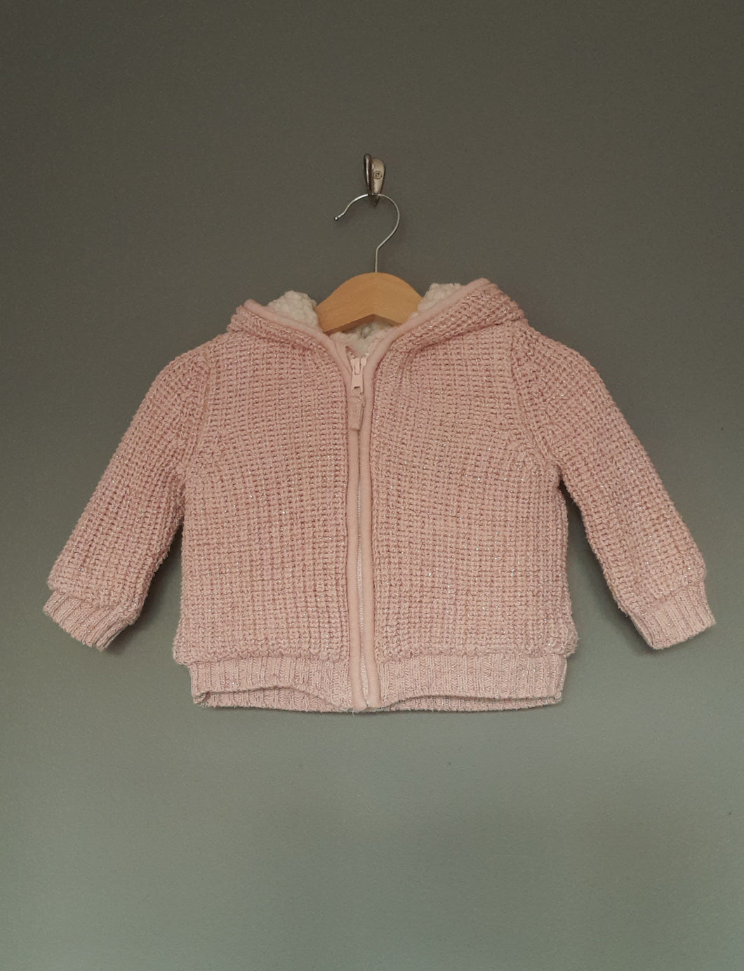6-9 months Pink Glitter Hooded Jacket