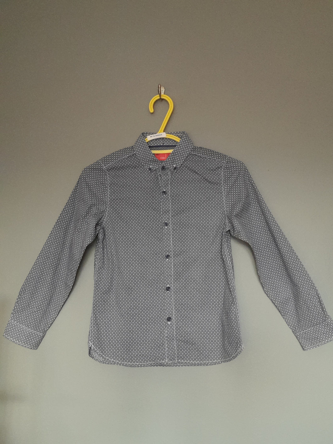 7-8 years Blue Patterned Long Sleeve Shirt