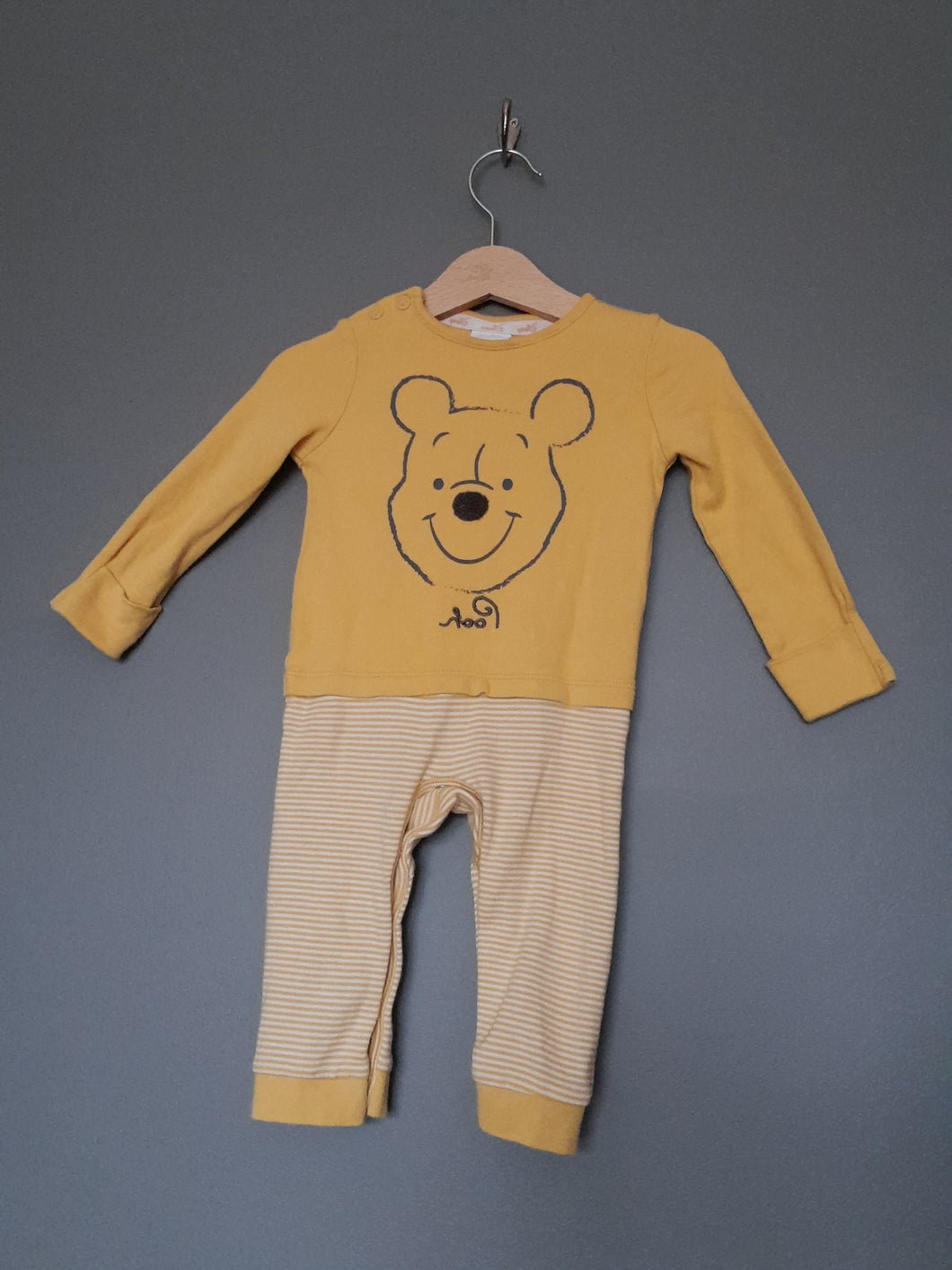 6-9 months Yellow Winnie the Pooh All in one