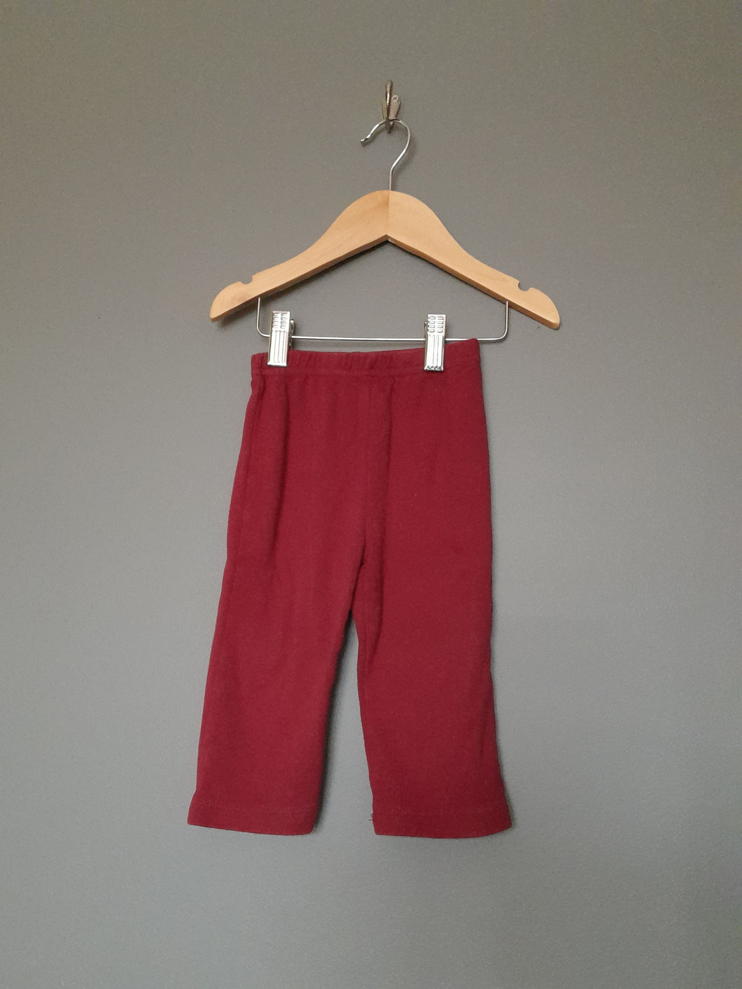 9-12 months Burgundy leggings