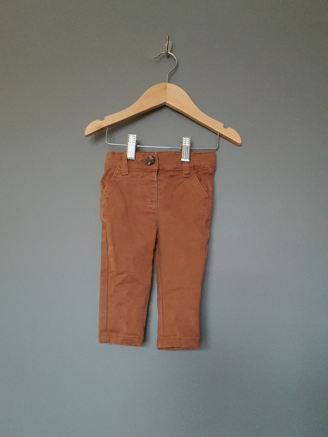 3-6 months rust chinos