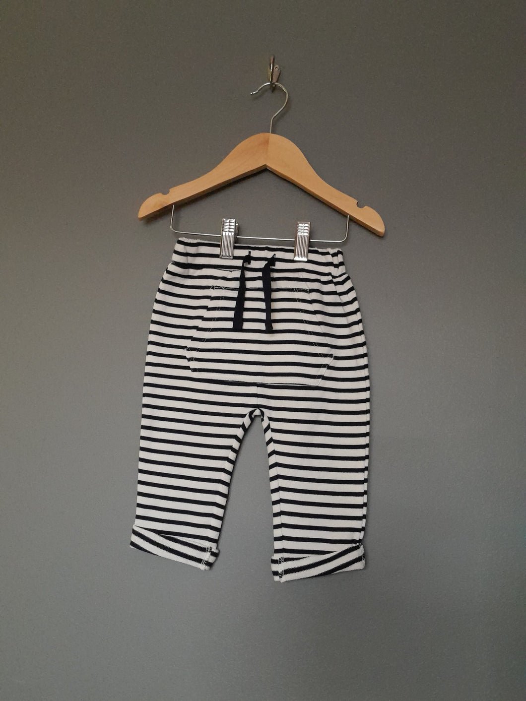 3-6 months brand new striped pants