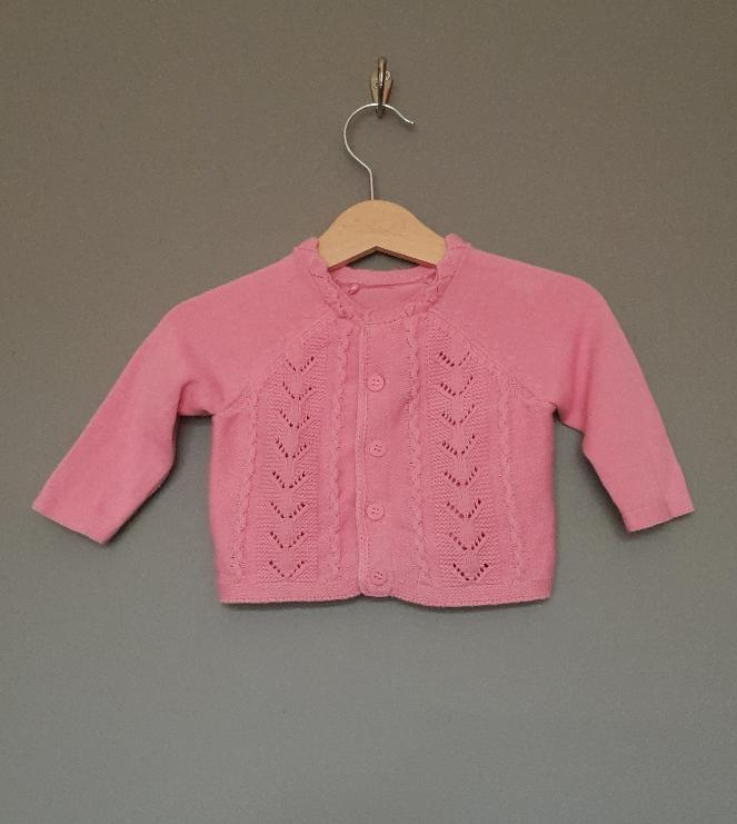 0-3 months Pink knitted cardigan