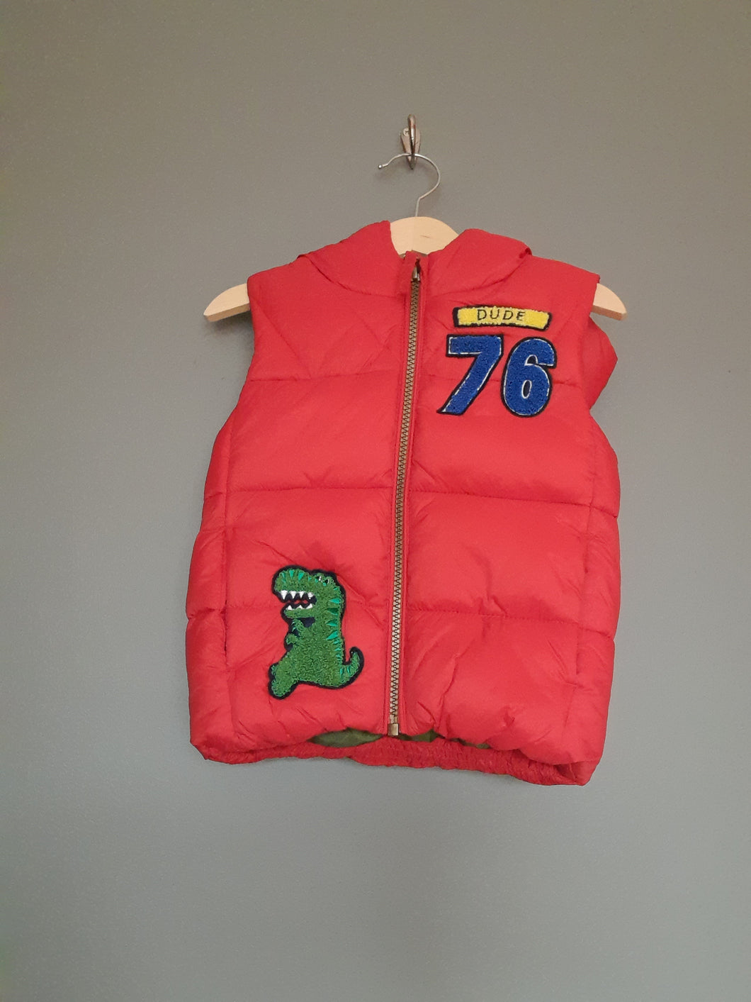 12-18 months red gilet
