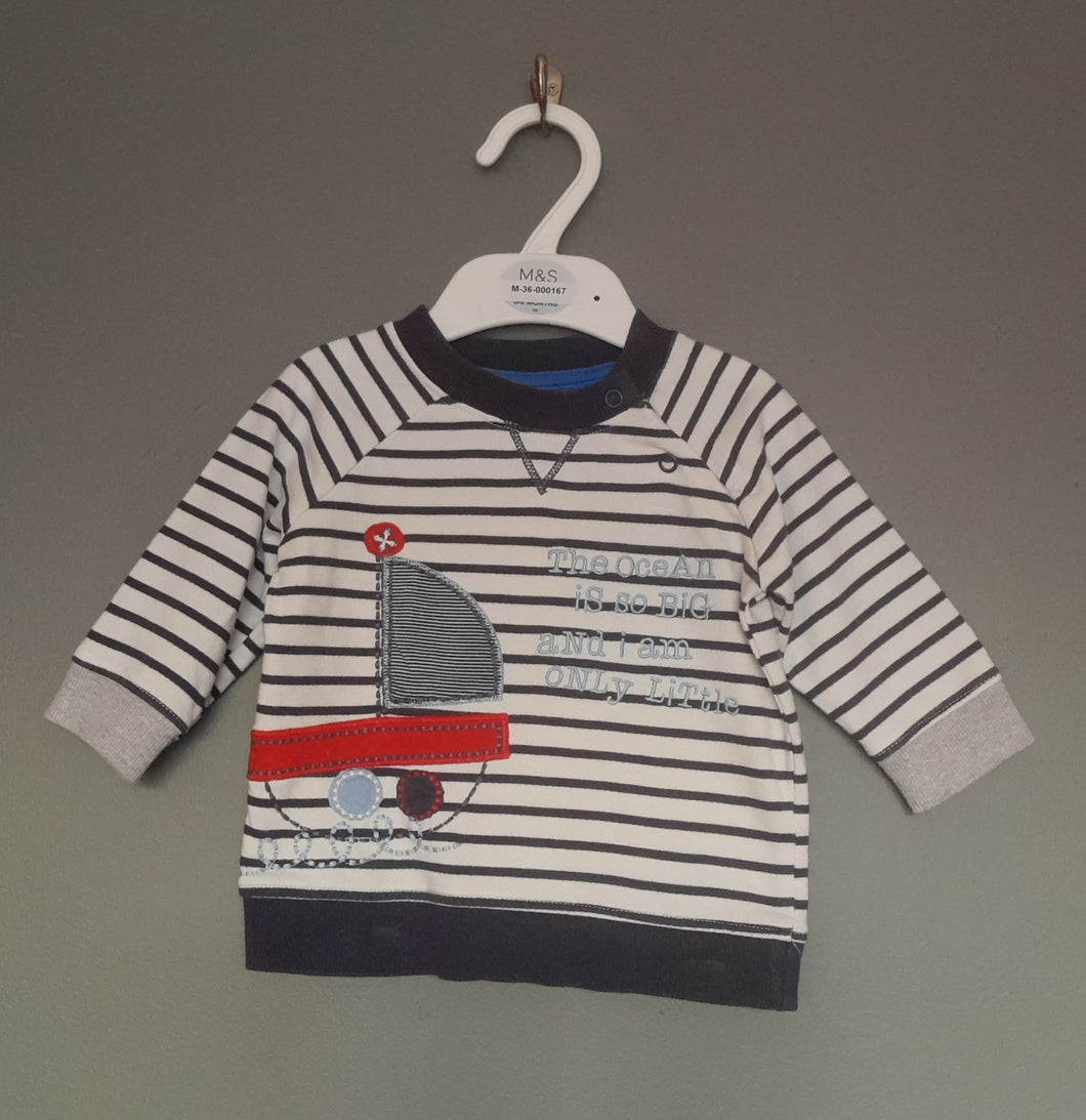 3-6 months Nautical sweatshirt - George