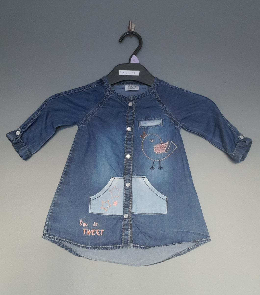 3-6 months Denim shirt dress - F&F